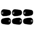 BG fogvédő gumi csomag (6db) fekete (0,8mm)