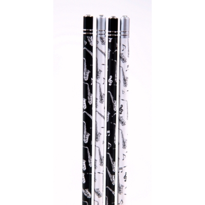 Szaxofonos ceruza, kristály hatású dekorkővel