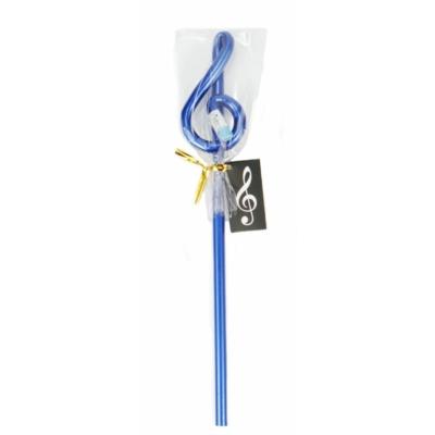 Violinkulcs alakú ceruza - kék, 24 cm