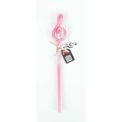 Violinkulcs alakú ceruza - rózsaszín, 24 cm